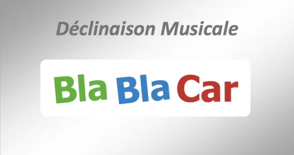 """DECLINAISON MUSICALE - Identité sonore : """"Bla Bla Car"""". Création"""