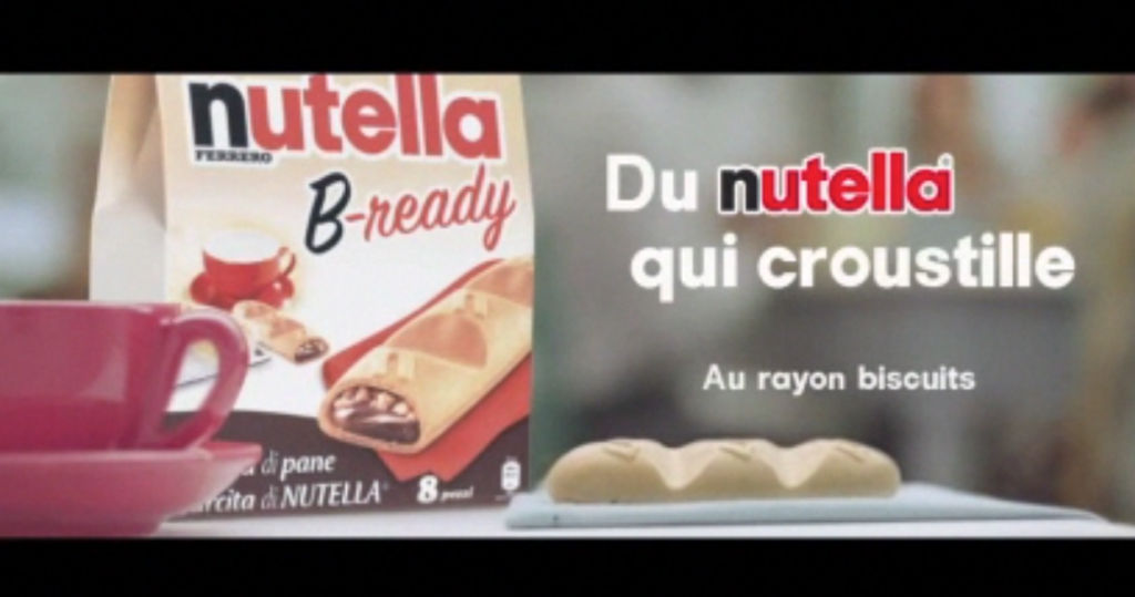 "SPOT TV - FR : ""Nutella B-Ready "". Post production"