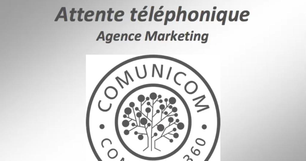 "TELEPHONIE - FR et ANG : Attente téléphonique ""Agence Marketing COMUNICOM"""