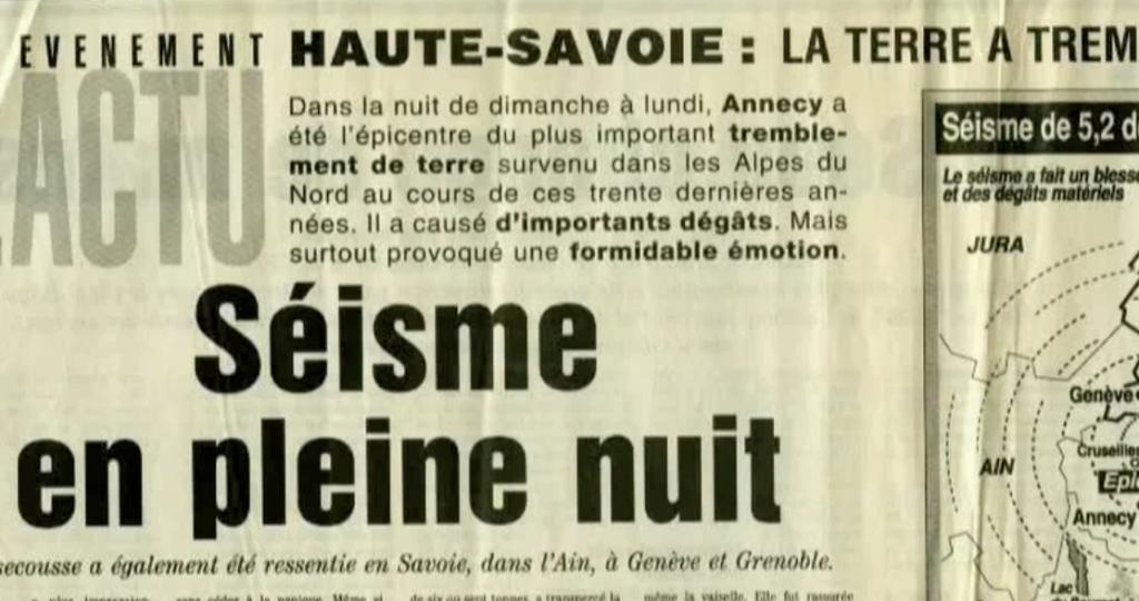 """REPORTAGE : """"Séisme Annecy"""". Post production / Création"""