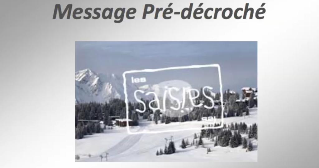 """TELEPHONIE - FR et ANG : Pré-décroché """"Domaine Skiable LES SAISIES"""""""
