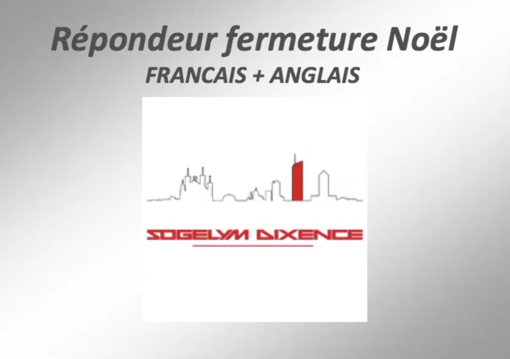 """TELEPHONIE - FR et ANG : Répondeur """"Sogelym Steiner"""""""