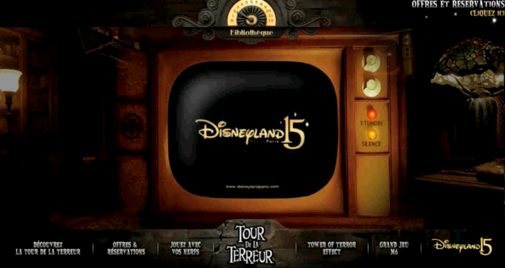 "HABILLAGE SOUNDESIGN : website ""Disneyland Paris - Tour de la terreur"""