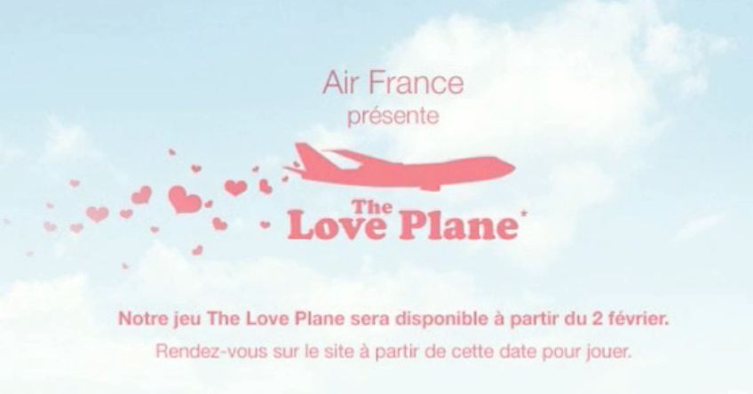 "CREATION MUSICALE : ""AIR FRANCE The Love Plane"". Website"