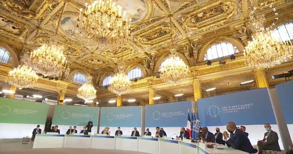 """FILM INSTITUTIONNEL - ANGLAIS : """"One Planet Summit 2021"""". Post production voix"""
